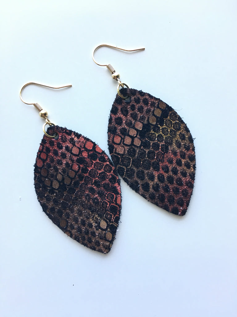 Fire Snake Earrings