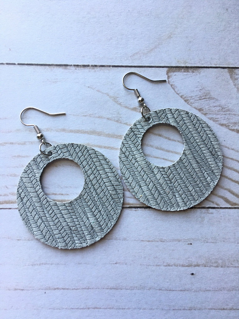 Gray Skies Luna Earrings
