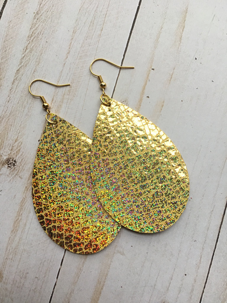 Gold Holographic Shimmer Earrings