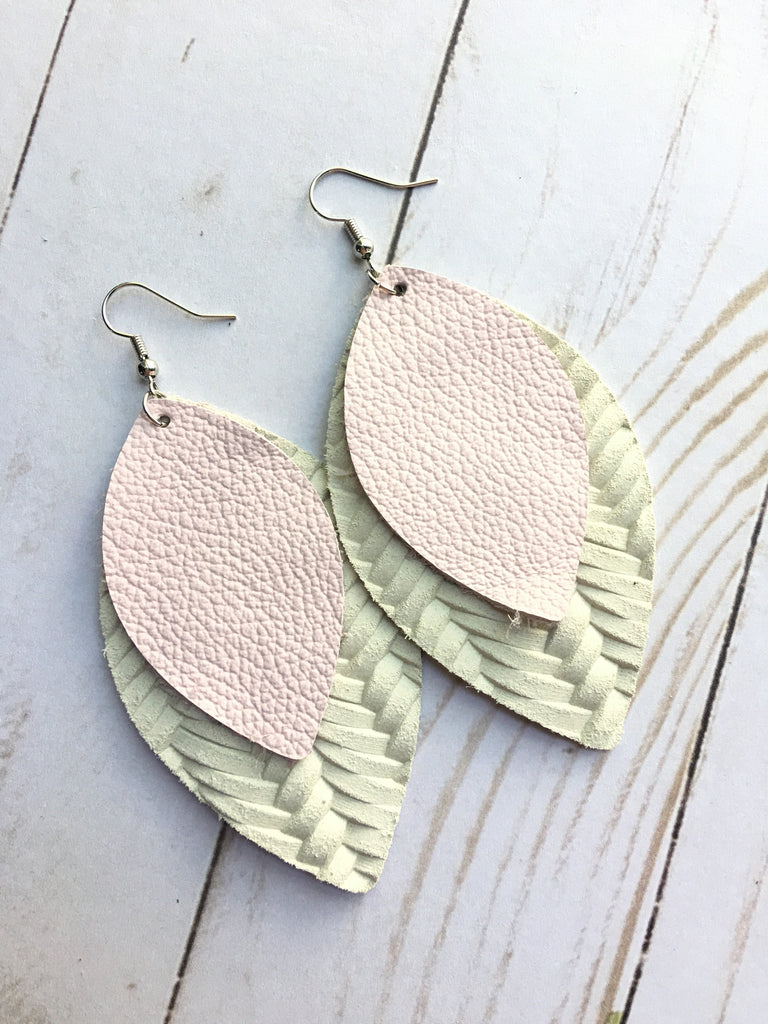 Cream and Blush Rebecca Earrings