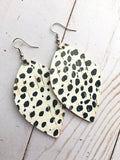 Spotted Cork Leather Earrings