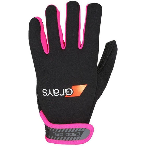 Grays G500 Gel Gloves - Black/Fluo Pink - One Sports Warehouse