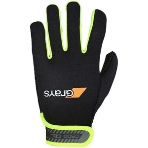Grays G500 Gel Gloves - Black/ Fluo Yellow - One Sports Warehouse