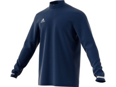 Adidas T19 1/4 Zipped Long-Sleeved Top Mens Navy - One Sports Warehouse