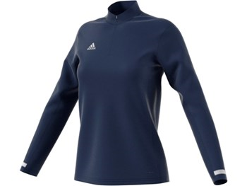 Adidas T19 Womens 1/4 Zipped Long Sleeved Top