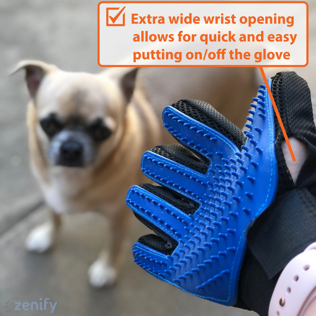 Zenify Pet Fur Grooming Glove