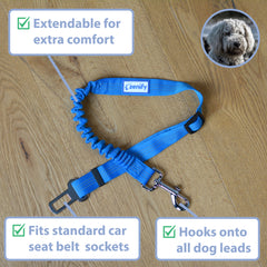 Zenify Extendable Dog Car Seat Belt