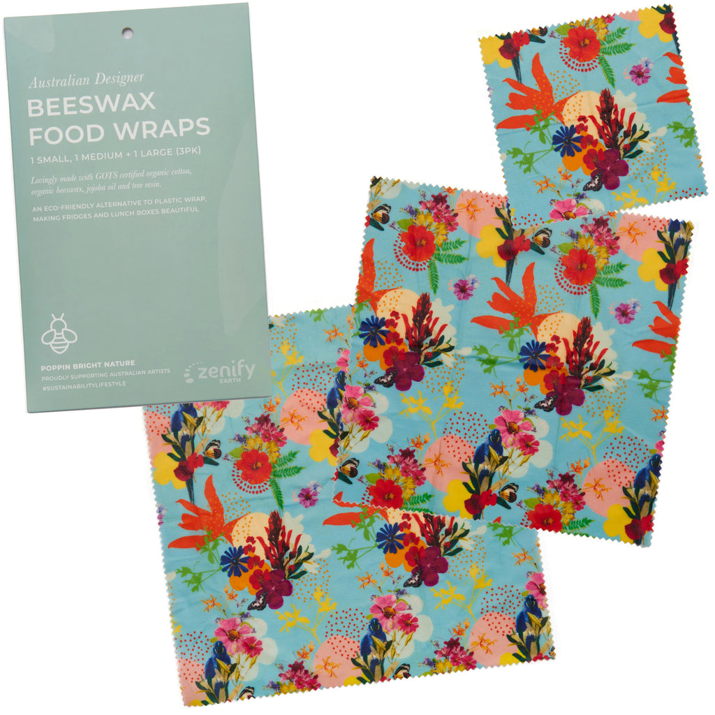 Zenify Earth Beeswax Food Wraps - Set of 3