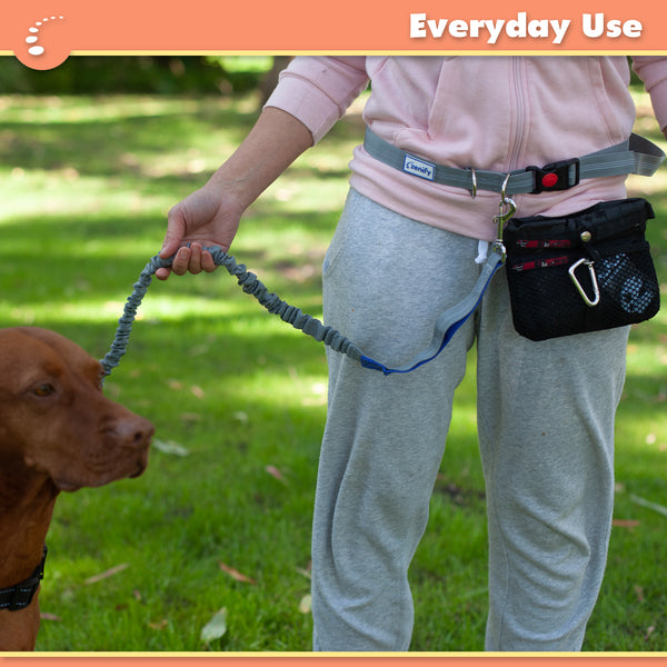 Zenify Hands Free Dog Leash Retractable Waist Belt for Running Walking