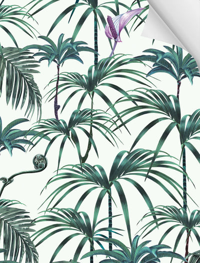 Witch and watchman Elysian Palms Green wallpaper sample