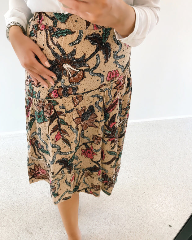 Akia midi skirt bone