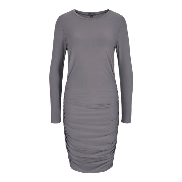 Alma long dress cashmere/grey