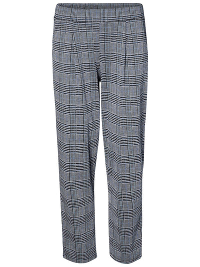 Blair check nw pant light grey/blue