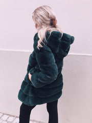 Chloé long faux fur green