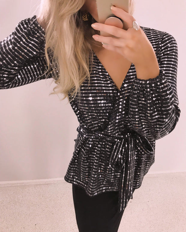 Cuda blouse black/silver