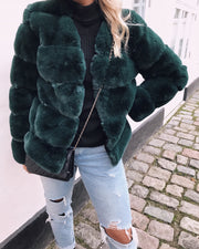 Chloé short faux fur green