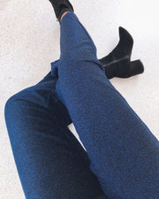 Dust lurex pant strong blue