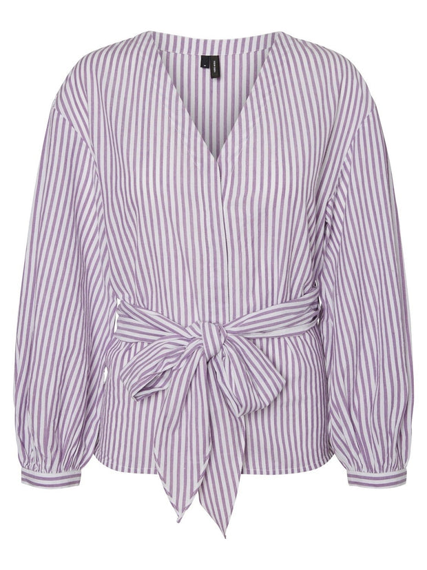 Dora ls tie shirt white/purple