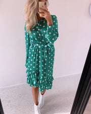 Elba dress green dot