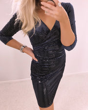 Ernt navy velour dress