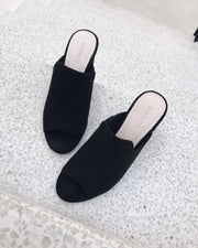 Heeled black sandal