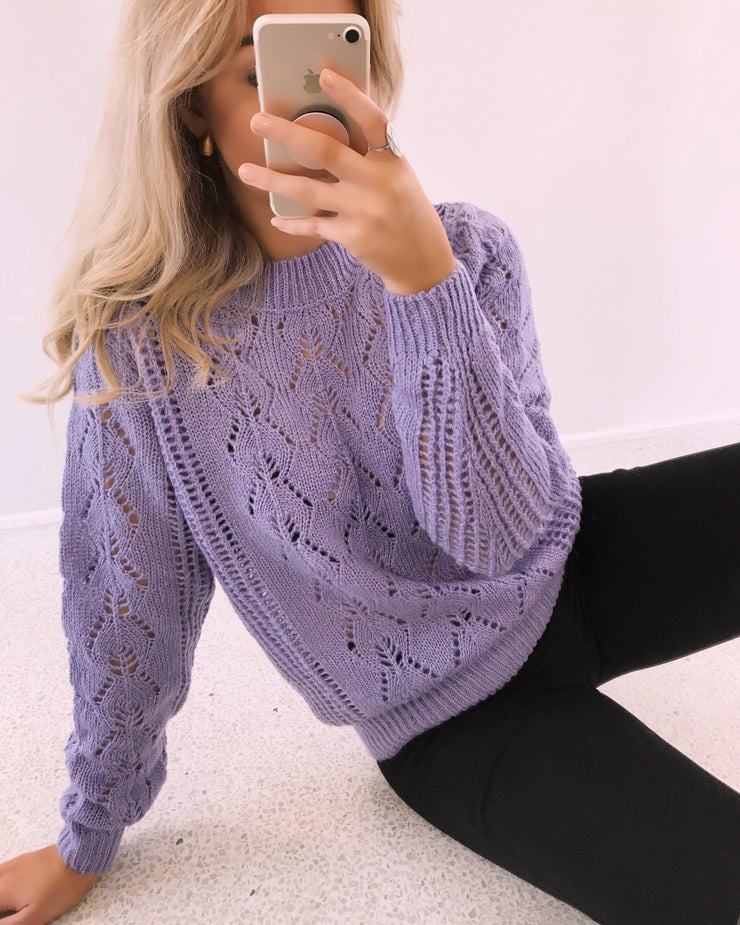 Hua sweater purple