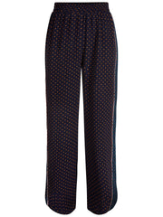 Multi dot wide pant blue