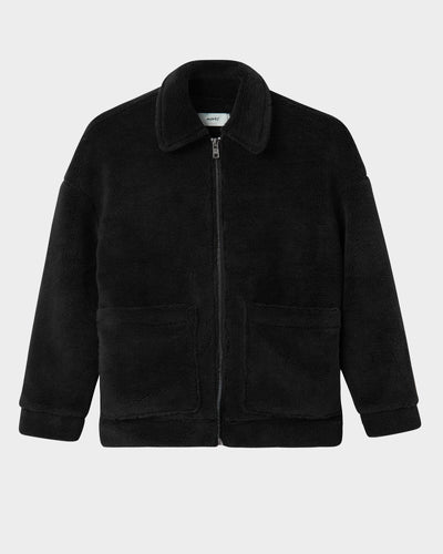 Salla teddy jacket black