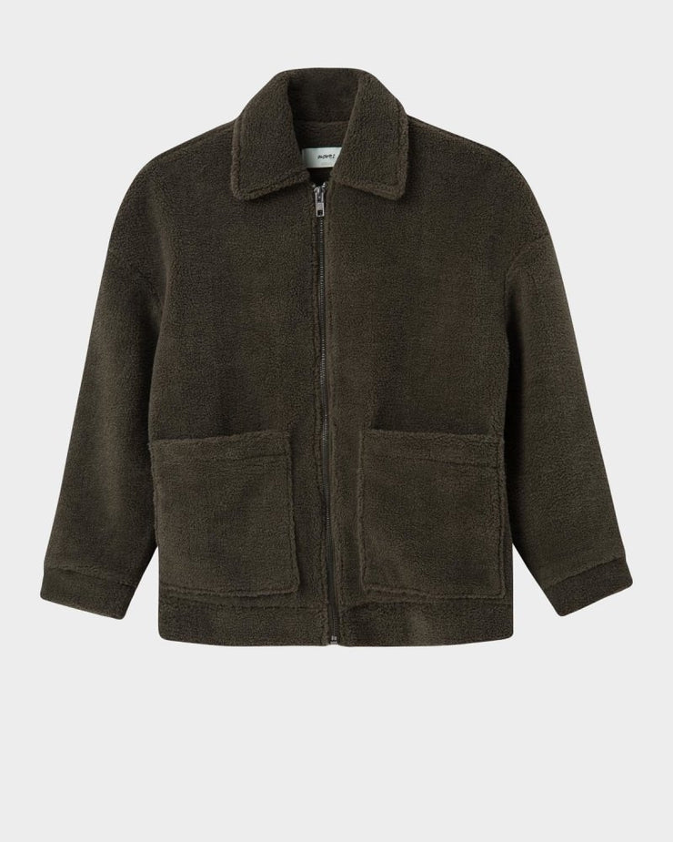 Salla teddy jacket burnt olive