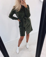 Valsi shirtdress khaki