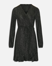 Vigga wrapdress black/silver/gold