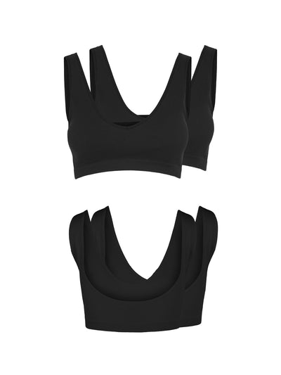Symmi rib bra top black