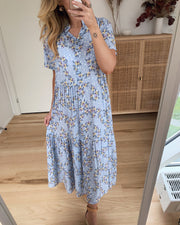 Lipe long dress short sleeves sky blue
