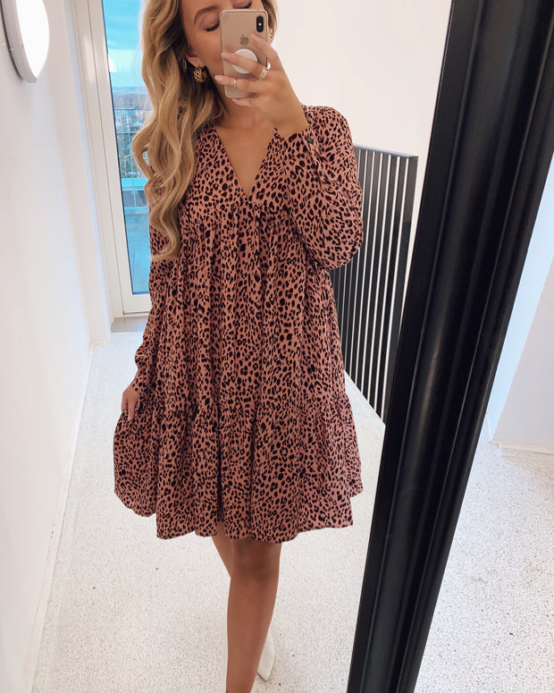 Love394 dress blush animal