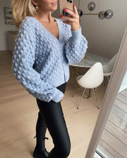 Licca cardigan light blue mel