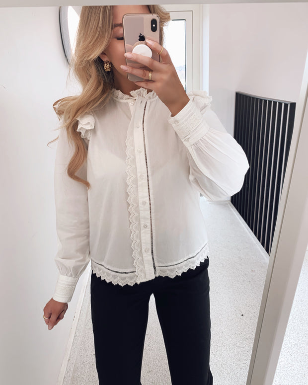 Chloel ls shirt star white