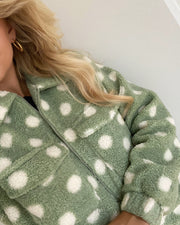 Venya jacket sea green/dot
