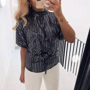 Girl top black/silver