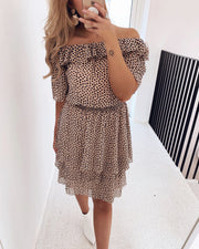 Nicoline off shoulder dress