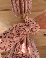 Love418-1 dress rose/rust flower - LIMITED EDITION