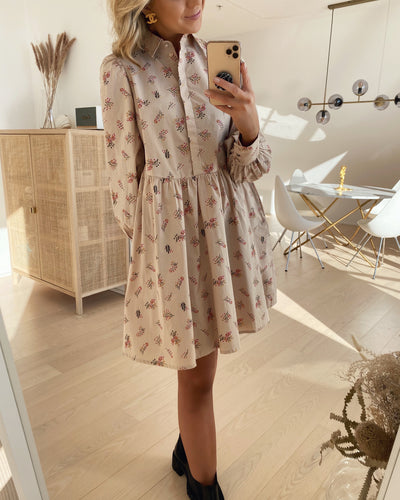 Cutie ls dress moonlight/cutie print