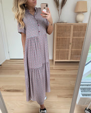 Lipe long dress small flower rose