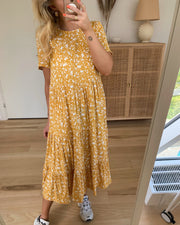 Dessi ss midi dress nugget gold/flowers