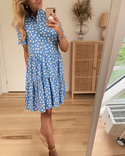 Simone s/s short dress provence/dot - FORUDBESTILLING