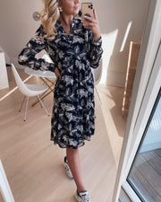 Love346-18 dress black/cream flower