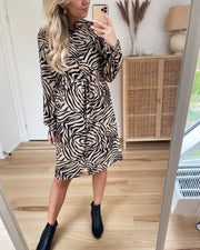 Maida dress bamboo/zebra