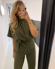 Girl jumpsuit khaki