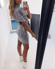 Girl party dress silver