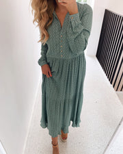 Monja ls dress loden frost