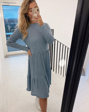 Vini long sleeved dress blue mel